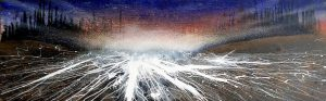 abstract landscape painting, artwork abstract expressionism, mixmedia on canvas