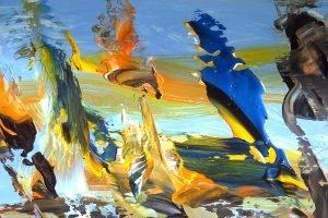 artwork, series, eht ni nr.2 abstract painting