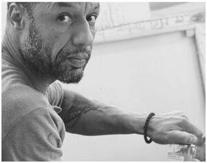 Abraham Danso Contemporary Artist Switzerland Photo About